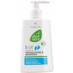 Aloé Vera Loção de limpeza e Champô sensitivo para bebé 250ML